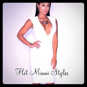 White faux leather dress